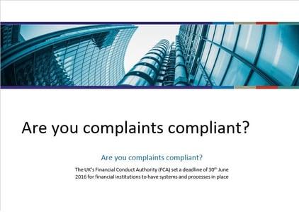 complaints management brochure (front cover)